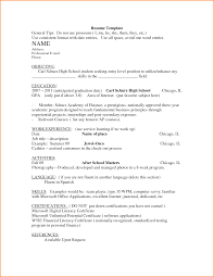 Awesome Collection Of 10 Resume Templates for Highschool Graduates Cute  Resume for High School Graduate