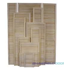 pine louvre doors
