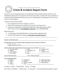Blank Incident Report Form Police Accident Naveshop Co
