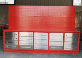 metal workbench with drawers. lot 729 - 10 metal workbench with drawers l