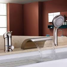 roman tub faucet with hand shower. Bathroom Roman Tub Filler Faucets Hand Shower Brushed Nickel Mixer Faucet With W