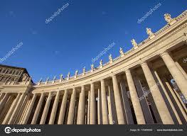 Colonnes Sur Square Cité Du Vatican Italie Le Saint Pierre