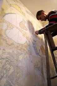 Nautical Chart Wall Mural Nautical Chart Wallpaper At Mapisart World Headquarters