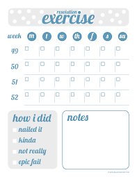 Workout Goal Chart Exercise Goal Tracker Fitness Goals Exercise Workout