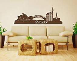 amazon com sydney city skyline wall decal by style apply