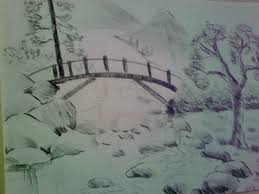 sketch painting of nature natural scene for drawing best nature scene drawing drawing of