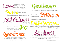 specify the gifts fruits of the holy spirit the person drew upon in their work
