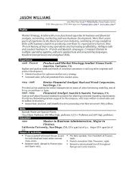 Us Resume Examples Example Of Resume Format Great Resume Example