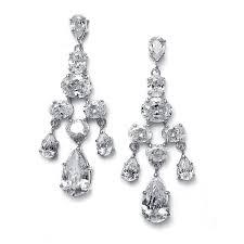 crystal chandelier bridal earrings wedding earrings