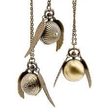 pocket watch golden snitch pendant necklace