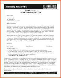 30 day notice to move out letter 30 day notice to move marketing proposal letter