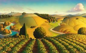 vineyard painting midwest vineyard by robin moline