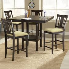 hilale arcadia 5 piece square counter height dining table set