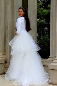 Alexandra Tznius Modest Wedding Dress With Sleeves