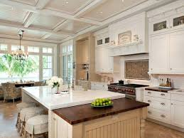 white country kitchen with butcher block. Wonderful Country Breakfast Bar Country Kitchen Recessed Lighting Butcher Block Shaker Style  Open Range Hood Ledge Eat In Ceiling White Lets Decor Blo And With