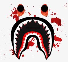 supreme hypebeast blood bape shark logo transpa transpa png 1129802