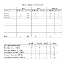 Work Roster Template Monthly Formats Staff Excel Duty Weekly