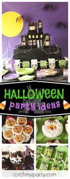 Get spooked by this awesome Monster Halloween Party! The party food is so  much fun