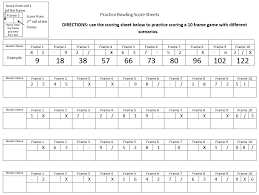 10 frame template 9 free sample bowling score sheet templates printable samples