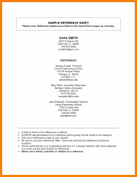 Reference Sheet For Resume 100 reference sheet for job students resume 2