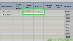 Salary Calculator In Excel Free Download How To Prepare Payroll In Excel With Pictures Wikihow