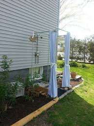 diy outdoor shower plans lovely diy outdoor shower stall with galvanized pipes and duck shower