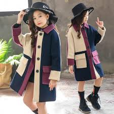 2019 new <b>autumn Winter Girls</b> Clothing Thicken <b>Woolen</b> Jacket ...