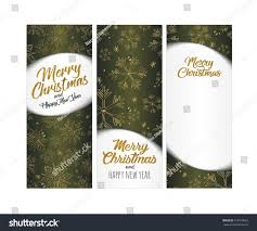 Merry Christmas Happy New Year Brochure Stock Illustration 759120832 ...