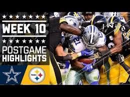 cowboys vs steelers nfl week 10 game