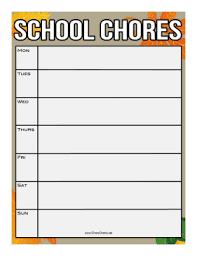 Classroom Chore Chart Printable Fall Classroom Chore Chart