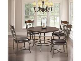 Bernards Midland 5 Piece Metalwood Round Dining Table Set Royal