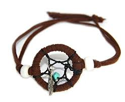 Dream Catcher Bracelet Amazon Amazon Dream Catcher Bracelet Brown Leather PBL10000B100 Wrap 8
