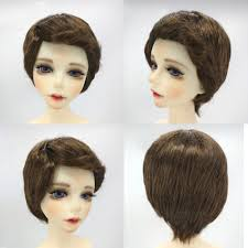 details about 1 4 bjd dolls wig short curly hair for dollfie diy accessory brown