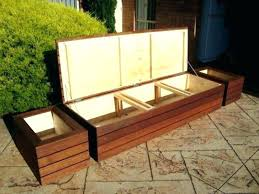 outdoor wicker storage bench with cushion garden benches wood seat wooden white plastic