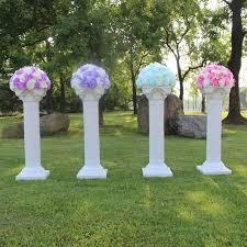 4 pcs disassemblability photography props plastic roman pillars column pedestal party decoration wedding road lead
