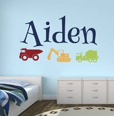 wall decor lovely decals world llc image custom trucks boy name wall decal construction