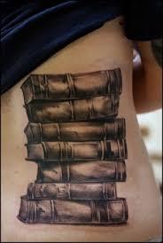 old black back book tattoo