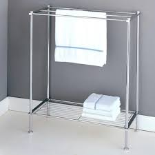 free standing towel warmer. Delightful Standing Bathroom Towel Rack Chrome Image Ideas Alist Free Racks With Self Beneath And Grey Painted Wall White Tiling Floor Warmer