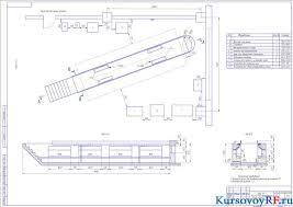 Технологическое проектирование АТП на автомобилей КамАЗ  Чертеж зона ТО 1