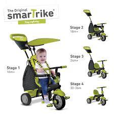 smart trike in kid tricycle  glow green  kids bikes