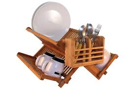 totally bamboo premium collapsible dish drying rack
