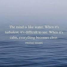 Water Quotes Magnificent The Mind Is Like Water When It Is Turbulent It Is Difficult To See