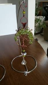 Suncatcher Display Stands Oak leaf sun catcher beaded wire wrapped With display stand out 14