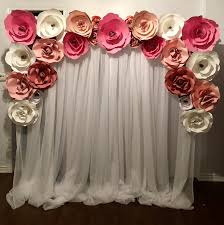 Paper Flower Backdrop Rental Red And Gold Paper Flower Wall Rental Flower Wall Rentals