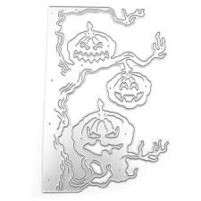 <b>Halloween</b> Cutting Dies <b>Pumpkin Tree</b> Metal <b>Stencil</b> DIY ...