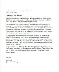reference letter examples for a job free letter of recommendation examples samples free