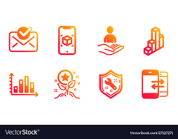 Spanner Chart Loyalty Points Spanner And 3d Chart Icons Set