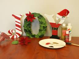 create festive standing joy letters use standing wooden letters to make joy decoration