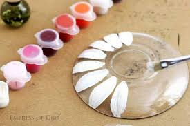 supplies for making garden art flowers from clear disheini vases