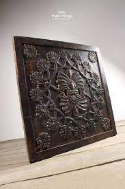 persian style fl carved wood wall